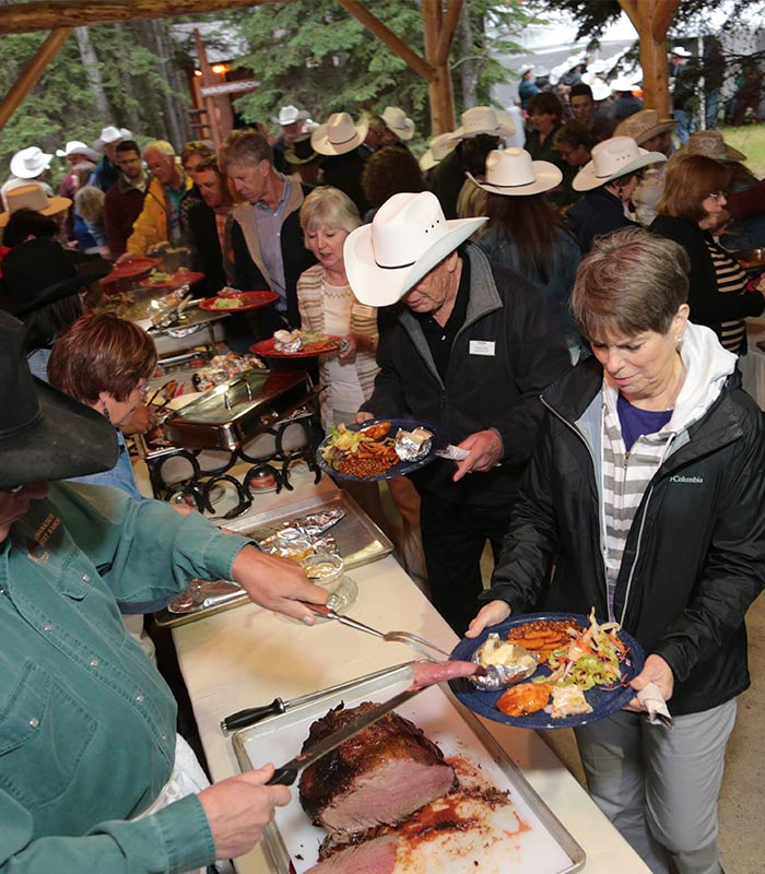 Brewster's Golf, Kananaskis Ranch - A big banquet with amazing food!