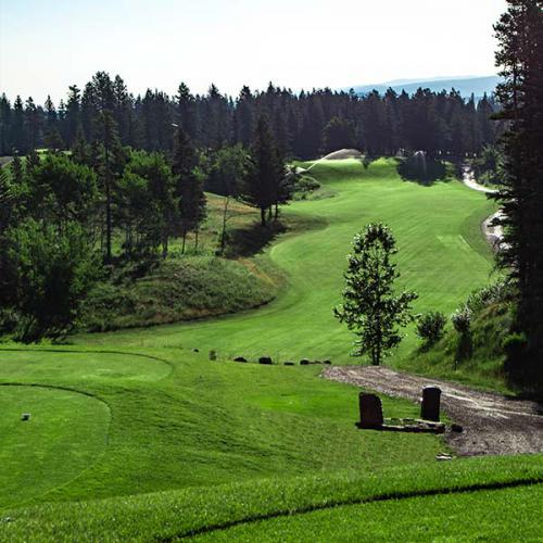 Brewster's Golf, Kananaskis Ranch - A beautiful picture of a fairway.
